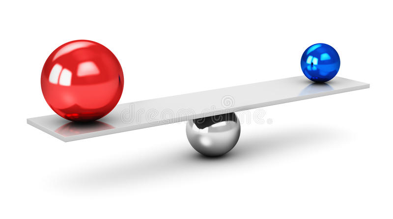Breng concept in evenwicht vector illustratie