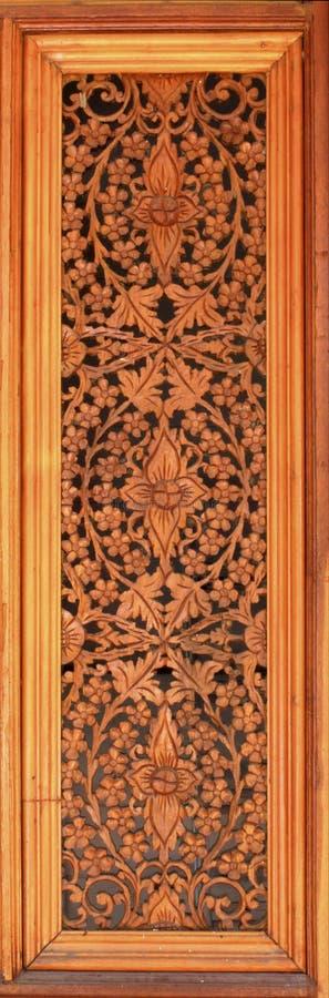 Breng houten behang in Thailand met elkaar in verband stock afbeeldingen