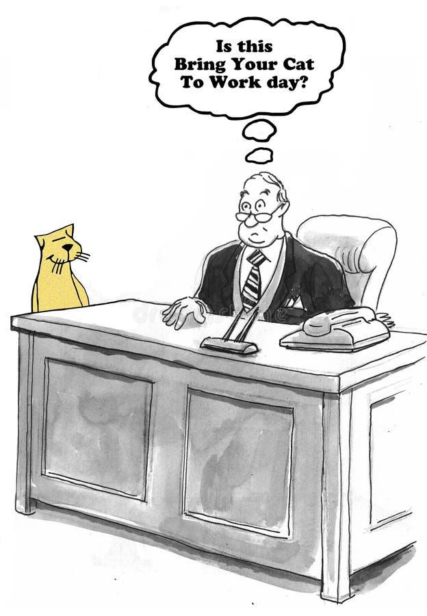 Breng Kat om te werken royalty-vrije illustratie