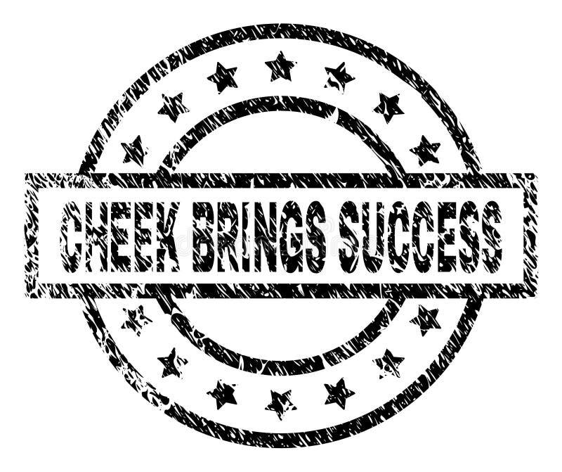 BRENGT de Grunge Geweven WANG de Verbinding van de SUCCESzegel stock illustratie