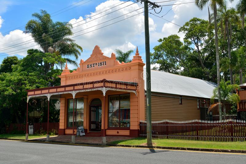 Brennan & Geraghty lagermuseum i Maryborough, Australien royaltyfria bilder