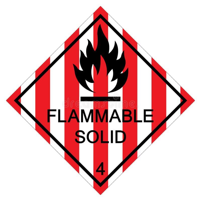Brennbares festes Symbol-Zeichen-Isolat auf weißem Hintergrund, Vektor-Illustration ENV 10 stock abbildung