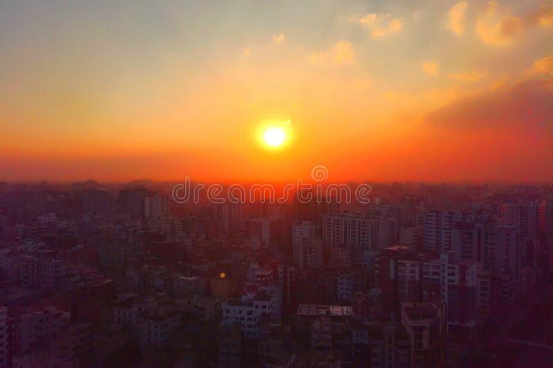 Brennen der Stadt Dhaka-Stadt stockfotografie