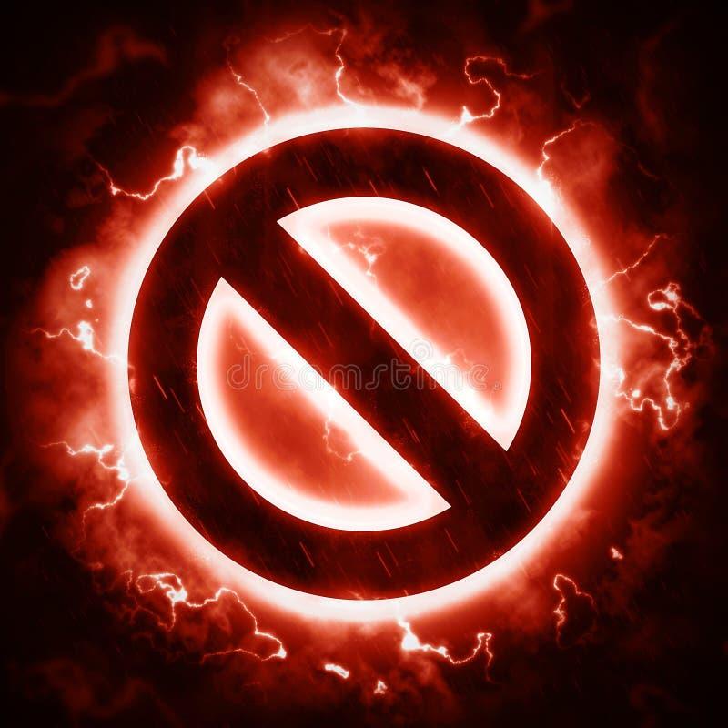 Brennen keines Zeichens lizenzfreie abbildung
