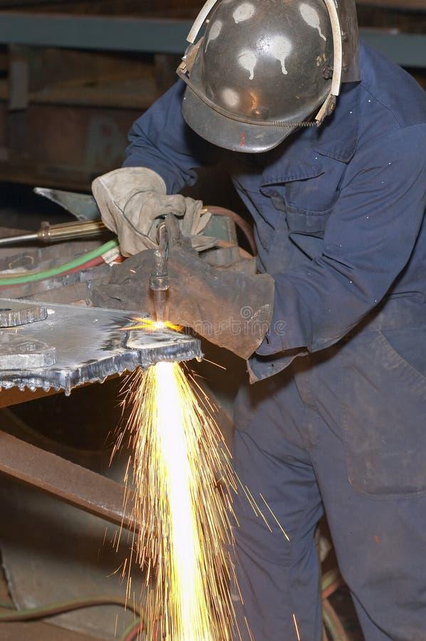 Brennende Arbeitskraft lizenzfreie stockfotos
