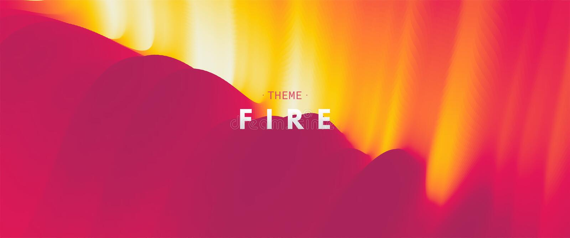 Brennende Feuerflammen entziehen Sie Hintergrund Modernes Muster Vektorabbildung f?r Auslegung vektor abbildung