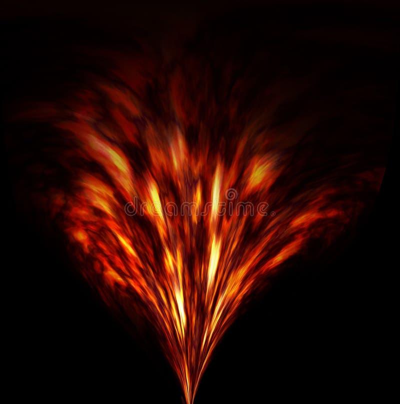Brennende Feuerwerke lizenzfreie abbildung