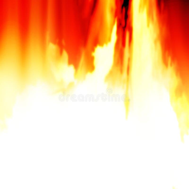 Brennende Flammen stock abbildung