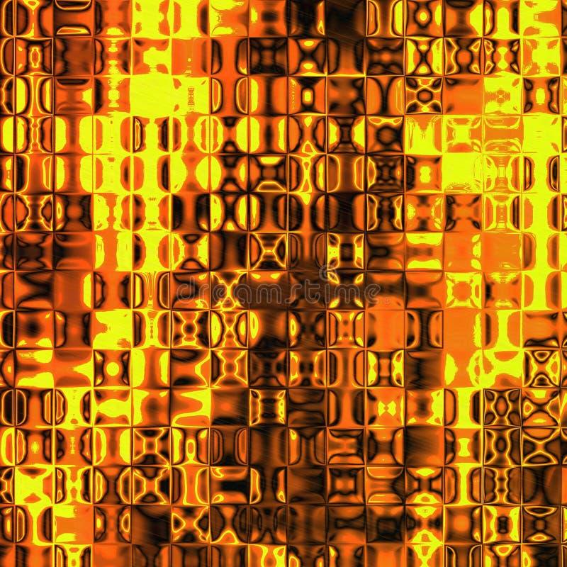 Brennende Glasfliesen lizenzfreie abbildung