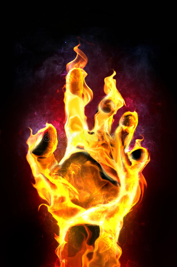 Brennende Hand lizenzfreie abbildung