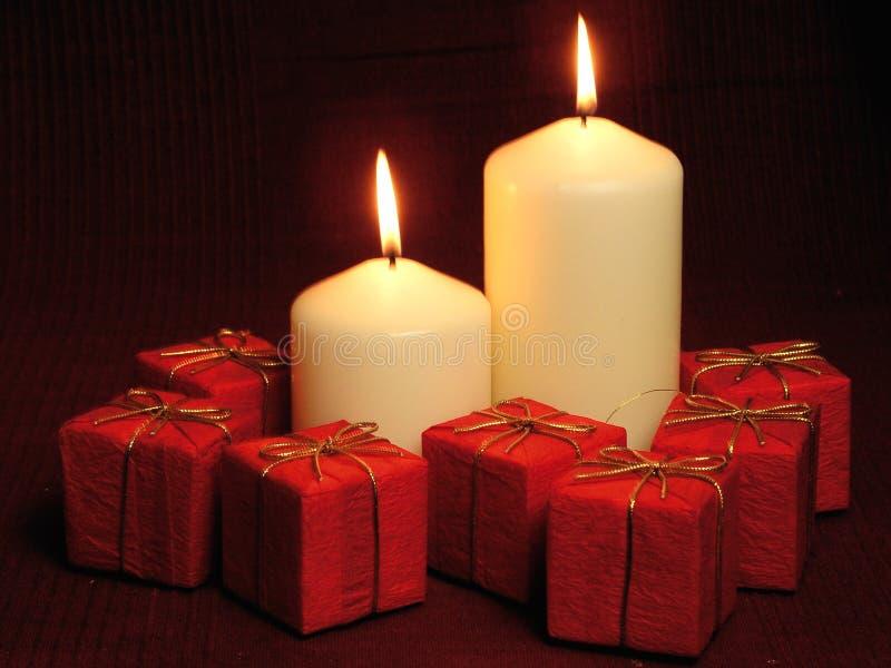 Brennende Kerzen stockfotos