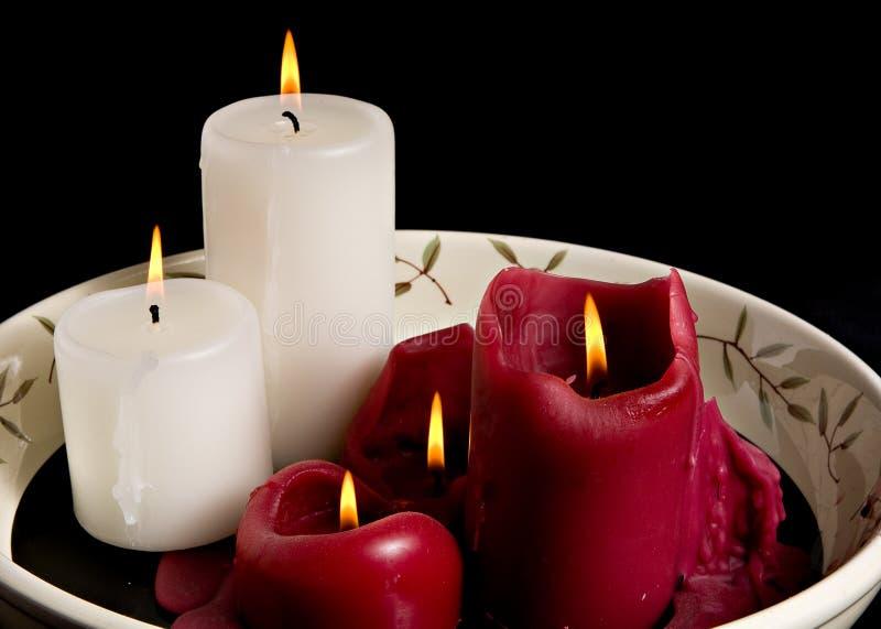 Brennende Kerzen stockbild