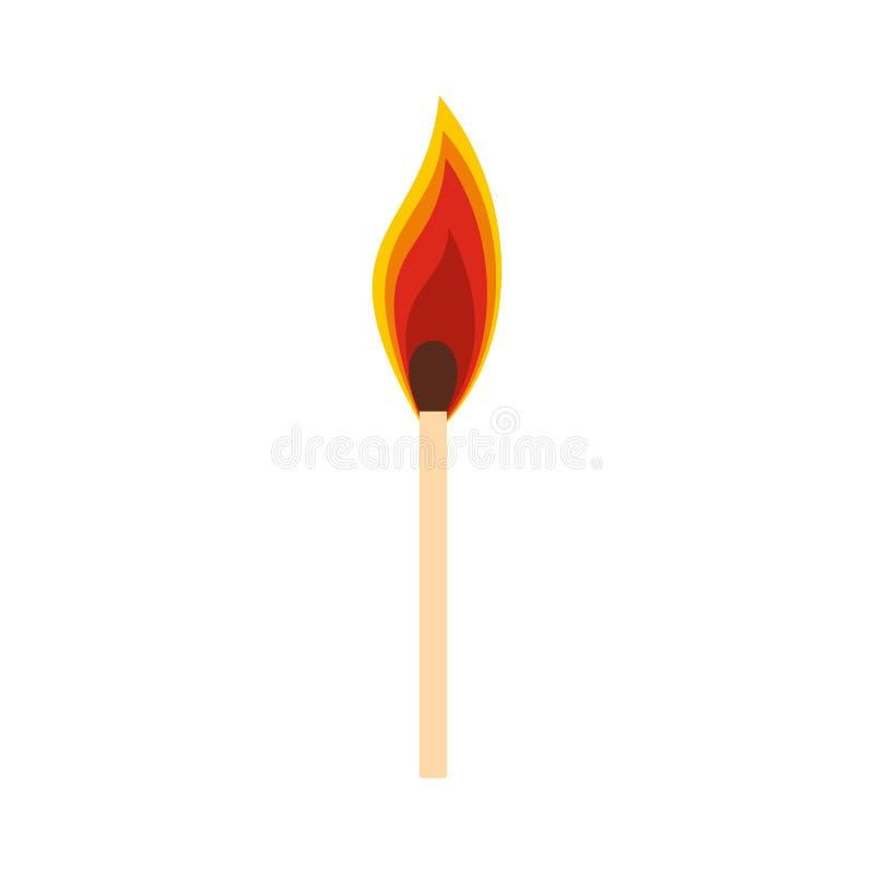 Brennende Matchikone lizenzfreie abbildung