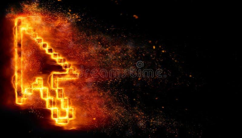 Brennende Nadelanzeige stock abbildung