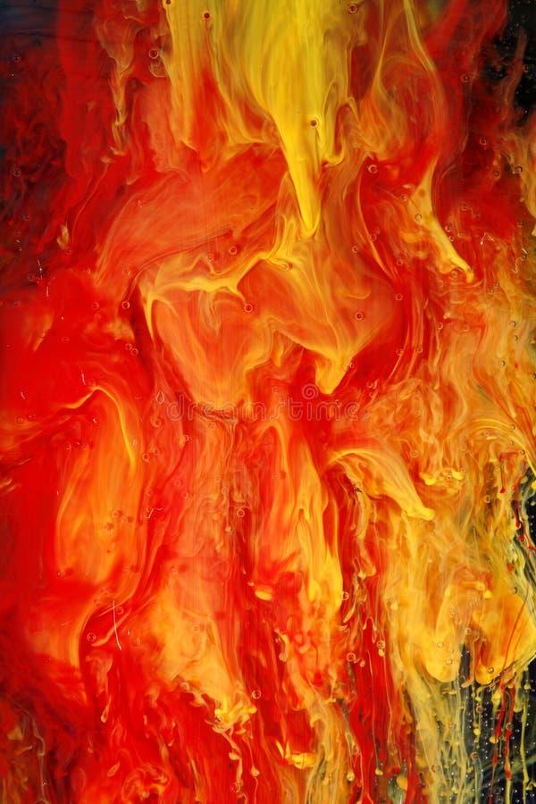 Brennender Auszug lizenzfreies stockbild