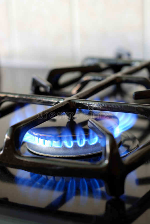 Brennender Gasofen stockfotografie