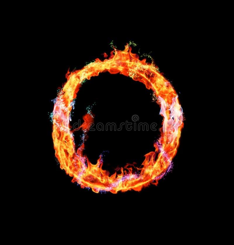 Download Brennender Magischer Schrifttyp - O Stock Abbildung - Illustration von inferno, zeichen: 12203235
