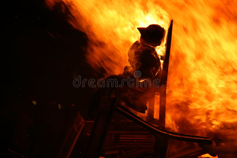 Brennender Mann lizenzfreie stockfotos