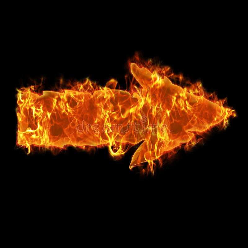 Brennender Pfeil lizenzfreie abbildung
