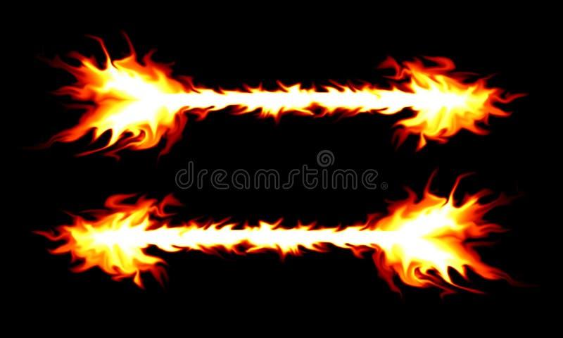 Brennender Pfeil stock abbildung