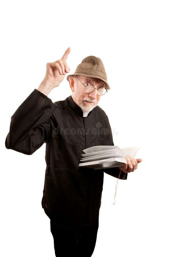 Brennender Priester lizenzfreies stockfoto