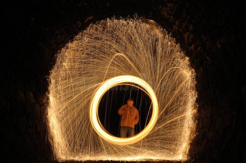 Brennender Ring lizenzfreies stockfoto