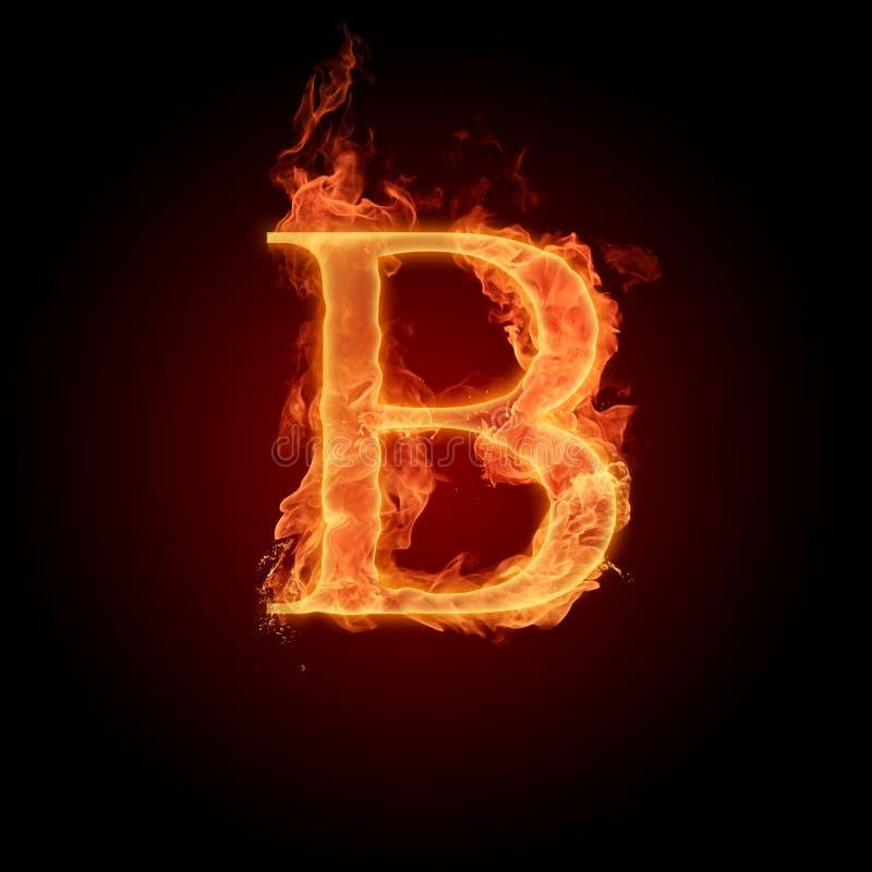 Brennender Schrifttyp stock abbildung