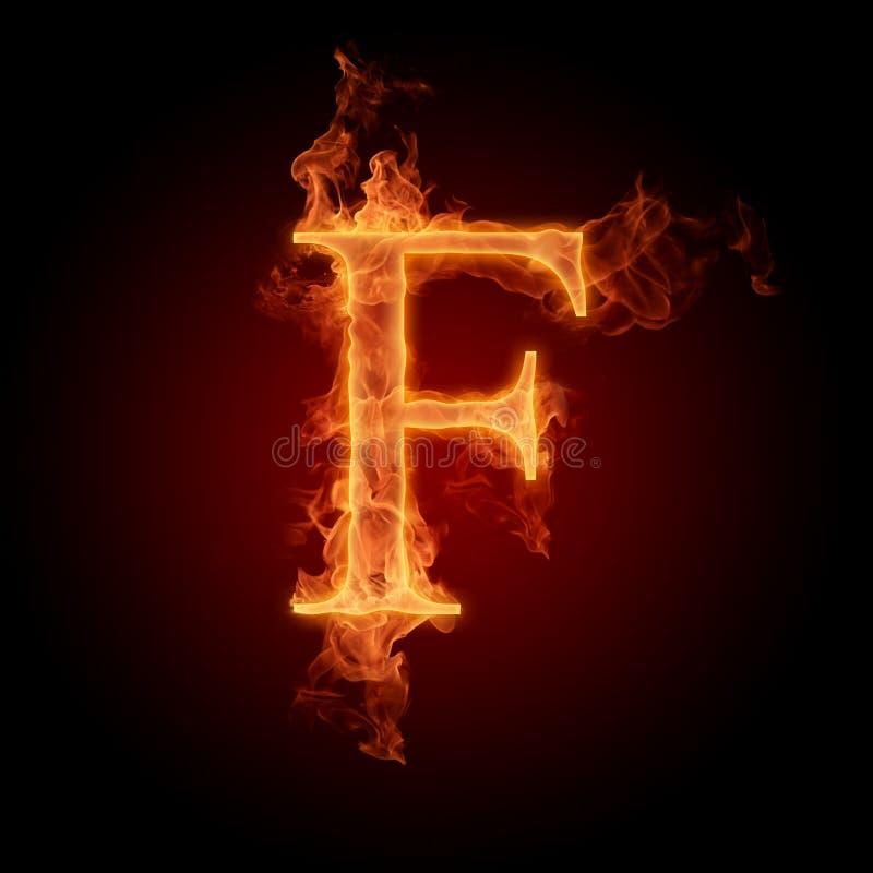 Brennender Schrifttyp vektor abbildung