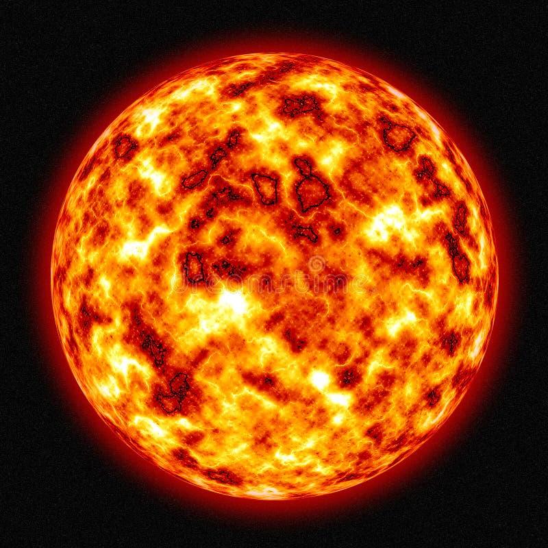 Brennender Sun stock abbildung