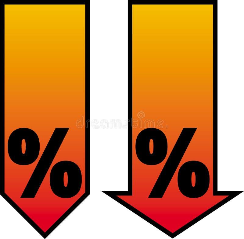 Brennender Verkauf stock abbildung