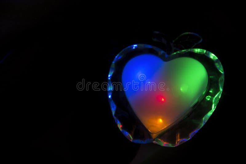 Brennendes colorfull Herz stockfoto