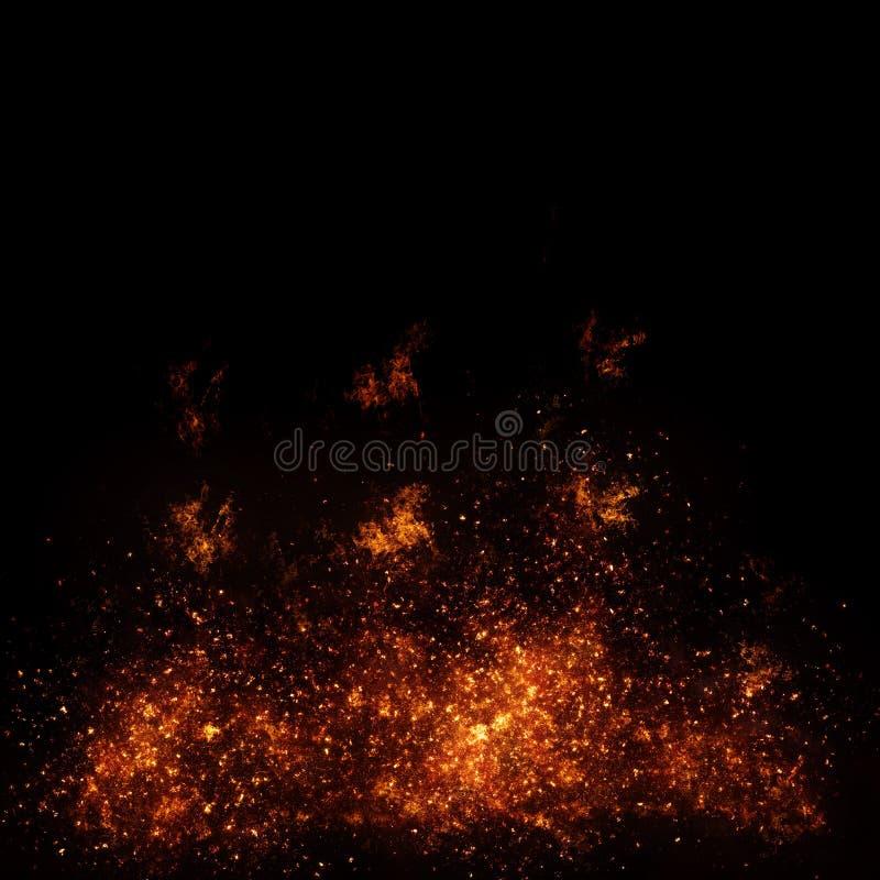 Brennendes Feuer mit Funken und Glut vektor abbildung