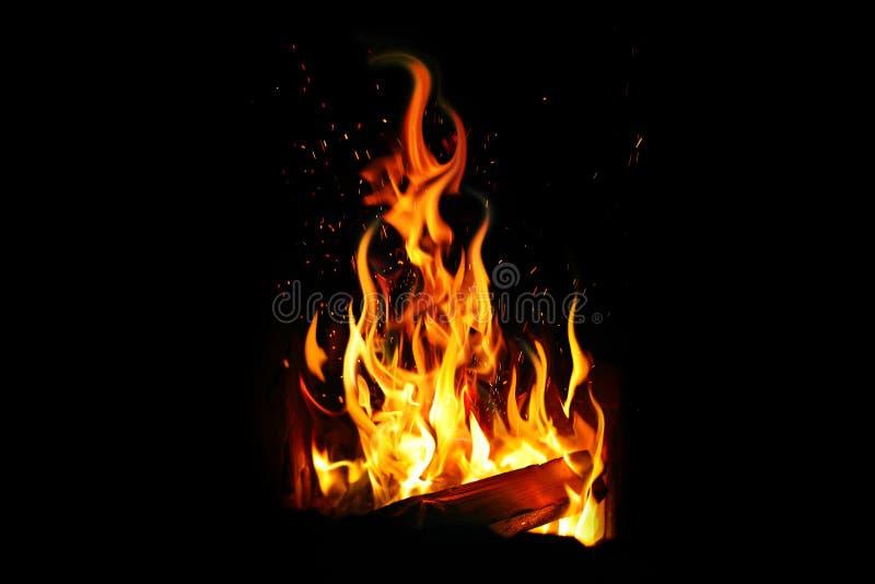 Brennendes Protokoll und Feuer stockbilder