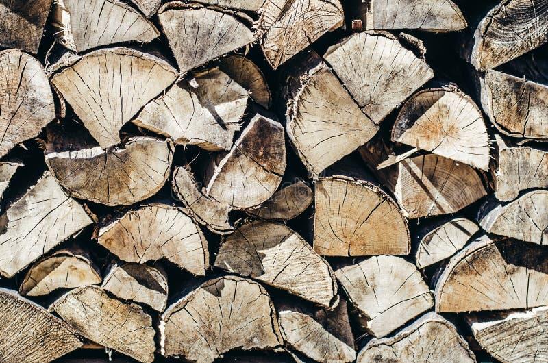 Brennholz-Hintergrund-jährliche Zone stockbilder