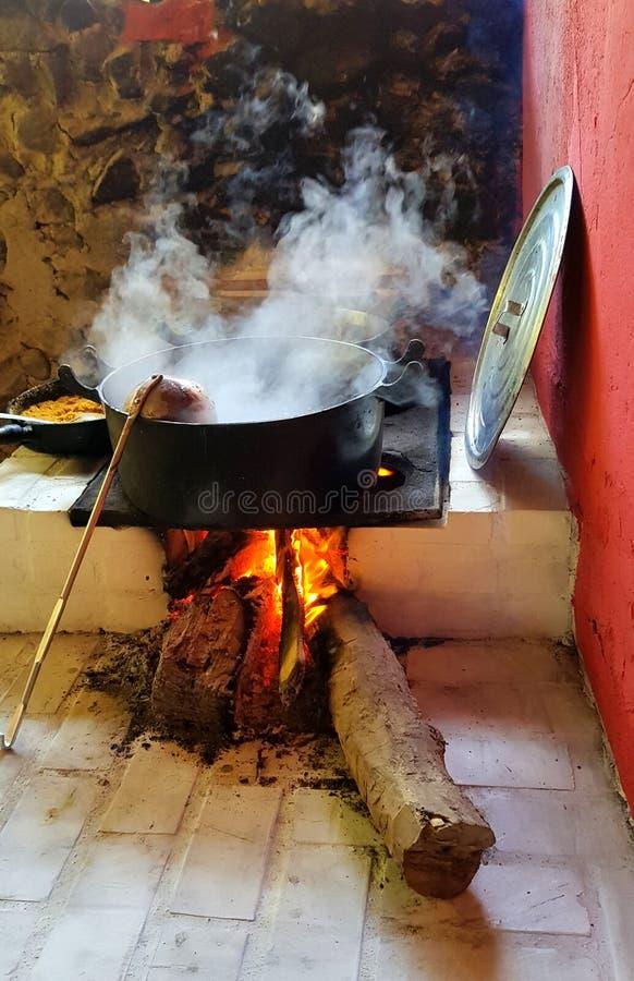 Brennholznahrung stockfoto