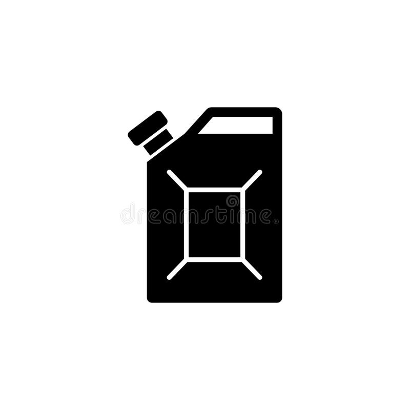 Brennstoff-Kanister-flache Vektor-Ikone lizenzfreie abbildung