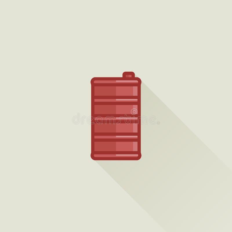 Brennstoff-Kanister-flache Vektor-Ikone vektor abbildung