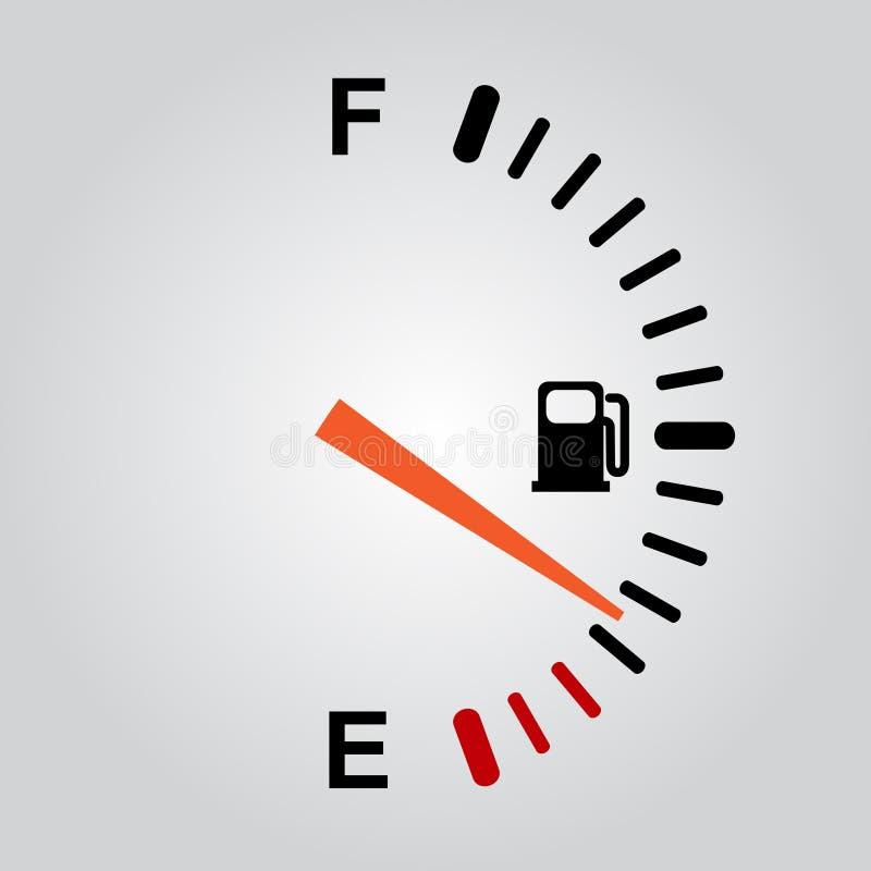 Brennstoffanzeichen vektor abbildung