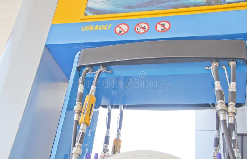 Brennstoffstationspumpe stockfotos