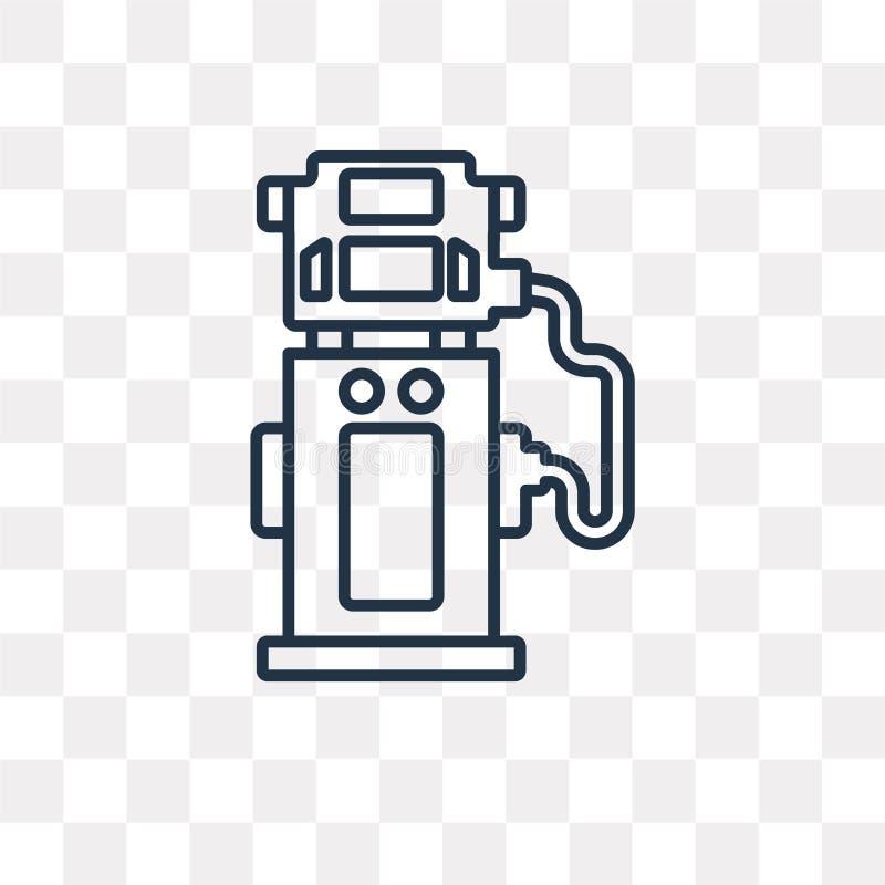 Brennstoffzufuhr-Vektorikone lokalisiert auf transparentem Hintergrund, L stock abbildung