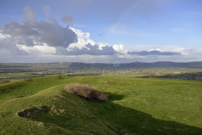 Brent Knoll Hill Fort photographie stock