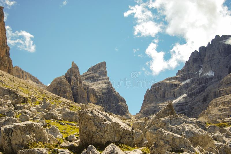 Brenta rotsachtige groep Dolomitis royalty-vrije stock afbeeldingen