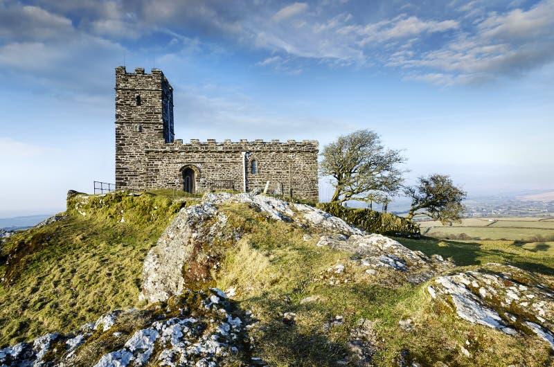 Brentor Church in Dartmoor royalty free stock photos