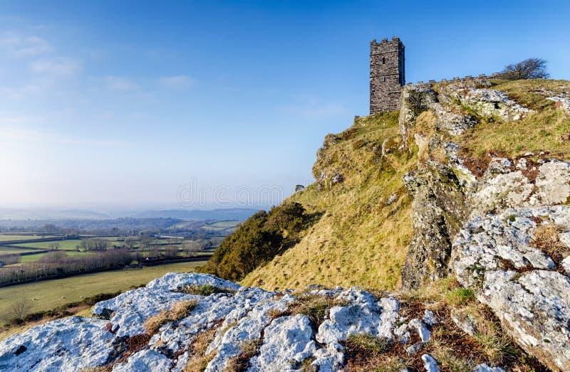 Brentor op Dartmoor royalty-vrije stock fotografie