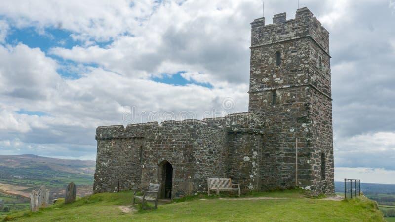 Brentorkerk, Devon royalty-vrije stock afbeelding