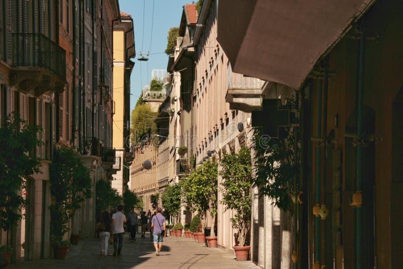 Brera, Mailand stockfotos