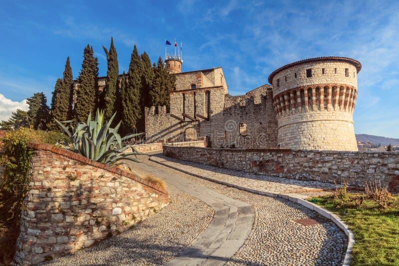 Brescia forteca, Włochy fotografia royalty free