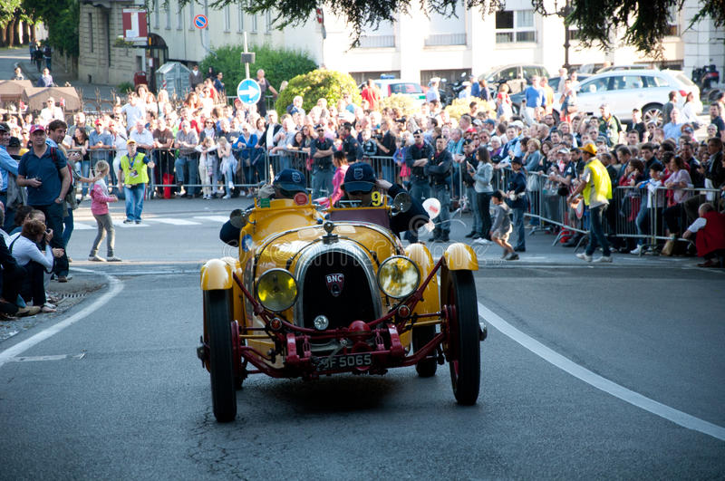 BRESCIA,ITALY - MAY,17: Mille Miglia. The famous race for historic cars,May 17,2012 in Brescia,Italy royalty free stock photography