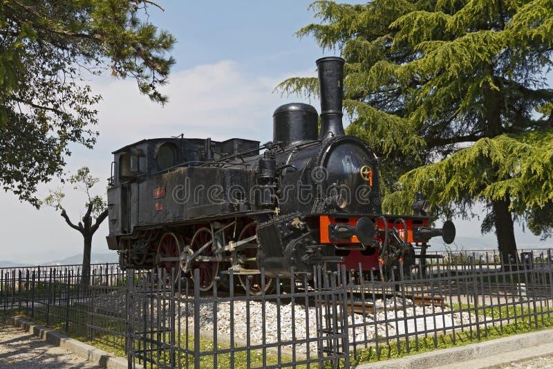 Brescia: Stara parowa lokomotywa obrazy royalty free