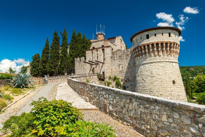 Brescia, Włochy: Kasztel Brescia Castello di Brescia obraz royalty free